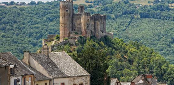 Village of Najac in the heart of nature